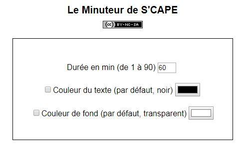 SCAPE Le Minuteur